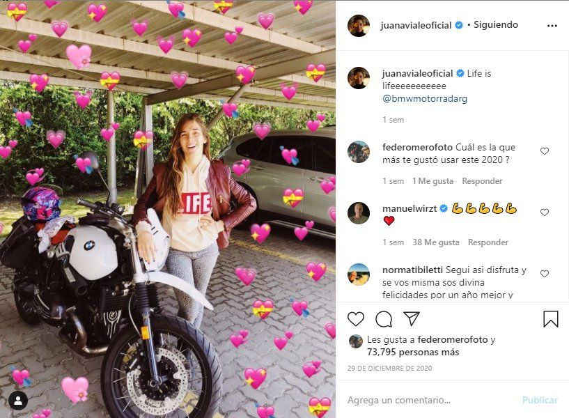 Este es el último posteo de Juana Viale la nieta de MIrtha en su Instagram ¿Compartirá alguna imagen desde Miami?