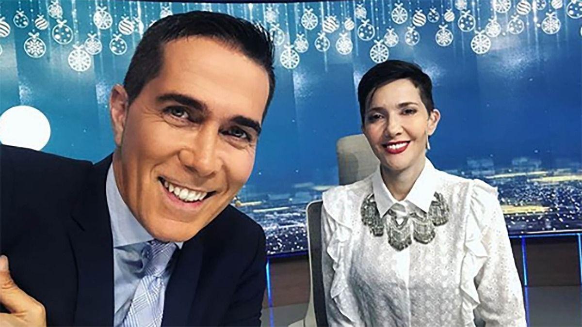 Rodolfo Barili y Cristina Pérez conducen Telefe Noticias desde hace más de una década