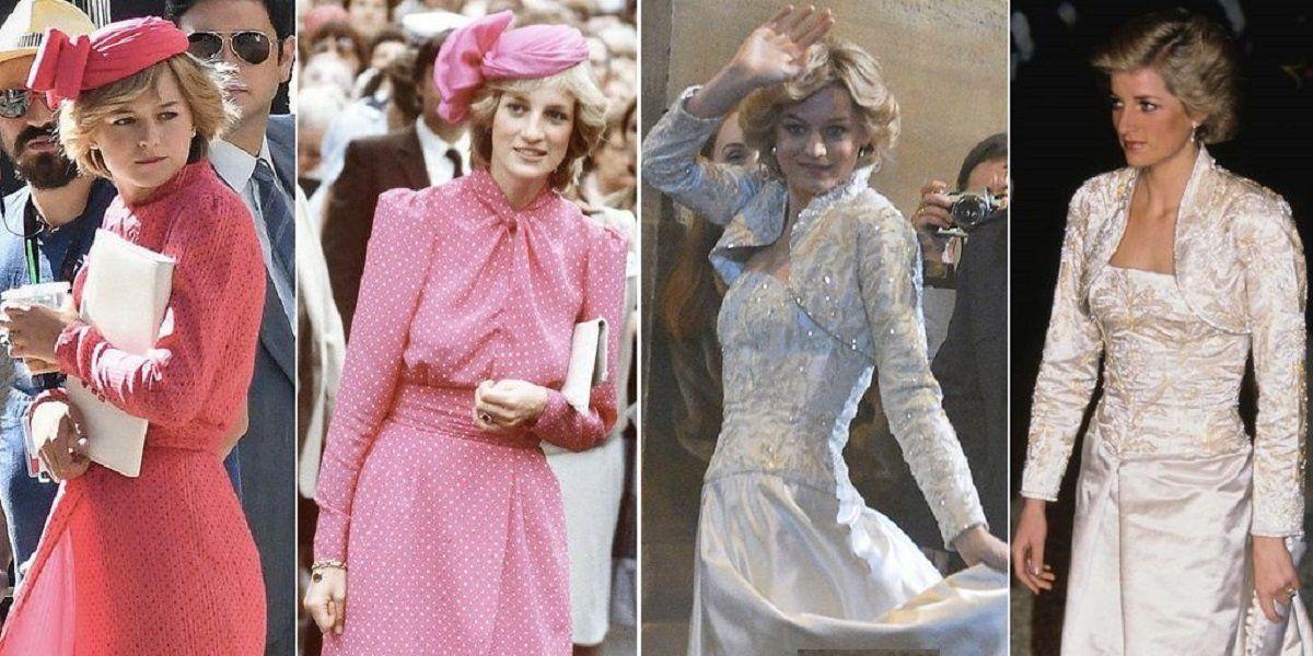 Comparativa entre Lady Di y la actriz Emma Corrin