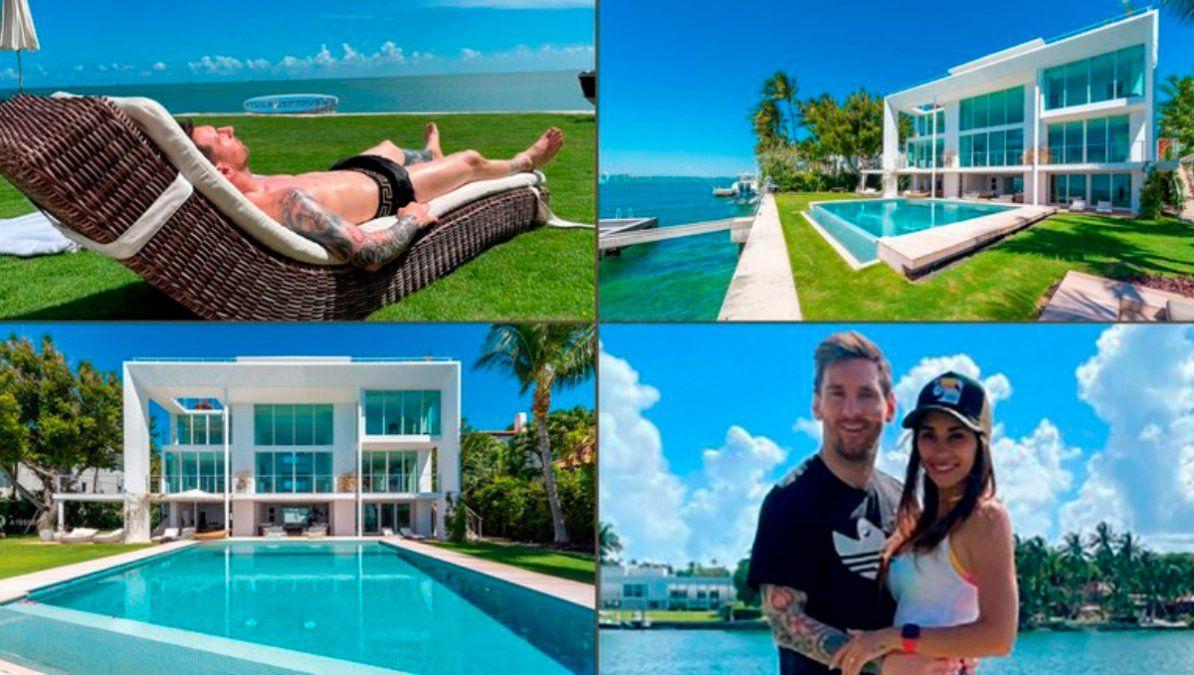 Yanina Latorre dio detalles de la lujosa mansión de Miami donde se hospeda Messi