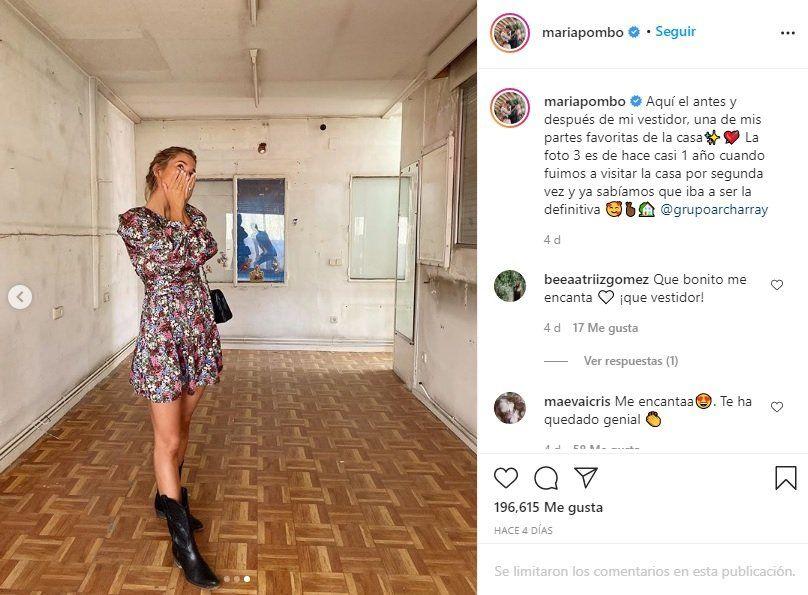 María Pombo muestra el antes y el después de su espectacular armario