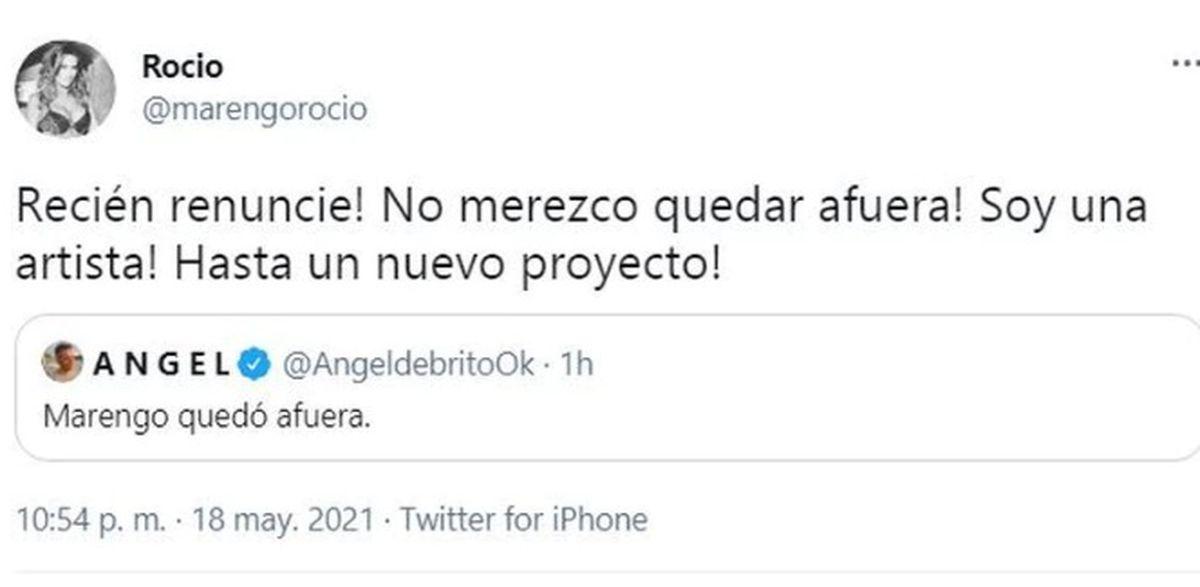 Escándalo en La Academia: Rocío Marengo renunció antes de salir a la pista