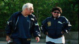 Guillermo Coppola junto a su amigo Diego Maradona