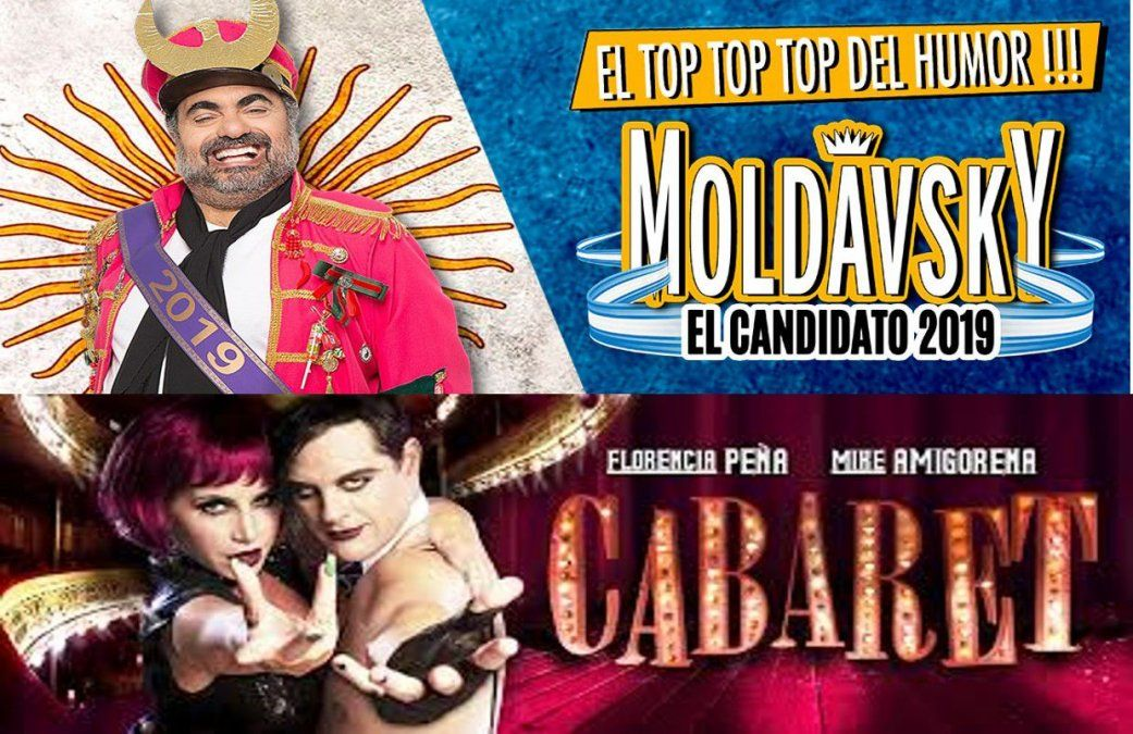 Moldavsky y Cabaret, en el podio de las obras de teatro más vistas