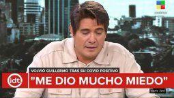 Guillermo Andino se emocionó hasta las lágrimas en su regreso a Informados de todo
