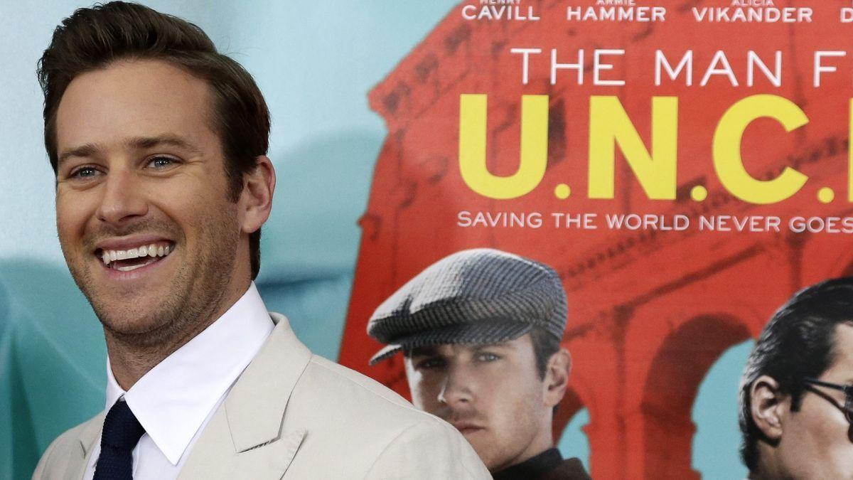 El actor Armie Hammer está actualmente desempleado y sin ningun proyecto en puertas
