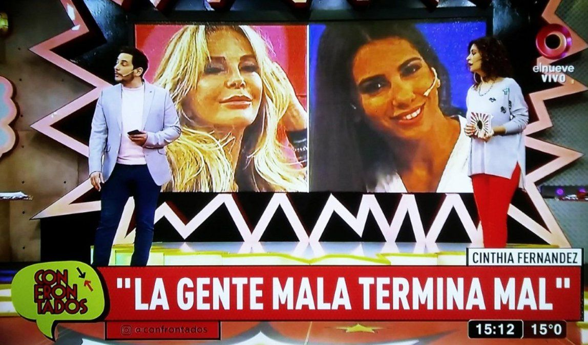 Recrudece el enfrentamiento entre Cinthia Fernández y Graciela Alfano: La gente mala termina mal
