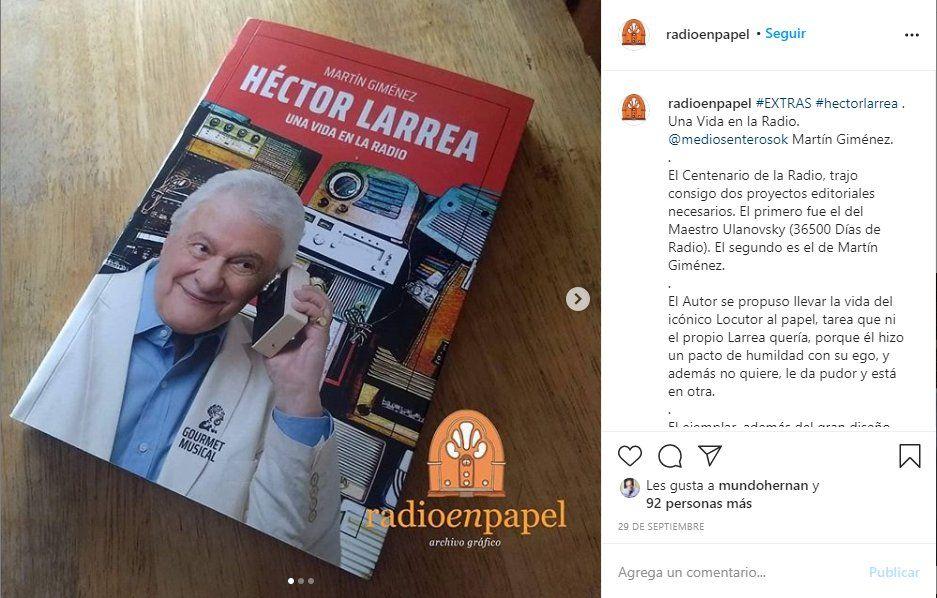 El director artístico de Radio Nacional escribió la biografía de Héctor Larrea