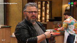 Donato de Santis se calentó y hasta insultó en italiano en Masterchef Celebrity