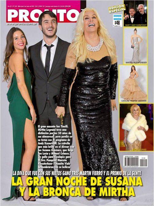 Cubero y Viciconte desnudos; Susana y los Martín Fierro en las tapas de la semana