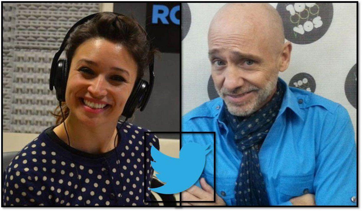Cruce twittero de Julia Mengolini y Ronnie Arias: lo trató de bruto