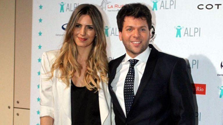 Guido Kaczka y su esposa