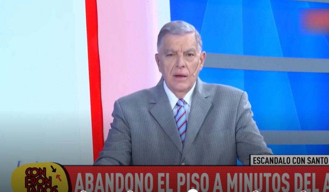 Furia y renuncia: Santo Biasatti se peleó con los productores de Crónica TV y hace dos días que no va al programa