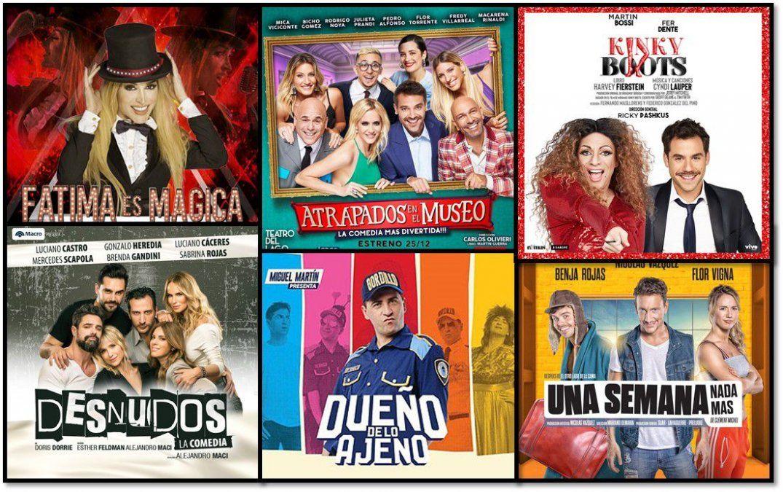Cambios y sorpresas en el podio de las obras más vistas de Carlos Paz, Mar del Plata y Buenos Aires