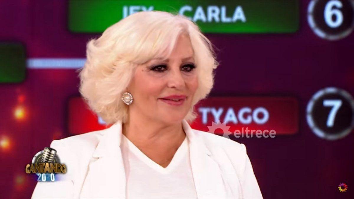 Luisa Albinoni fue eliminada del Cantando y su reacción hizo llorar a Nacha Guevara