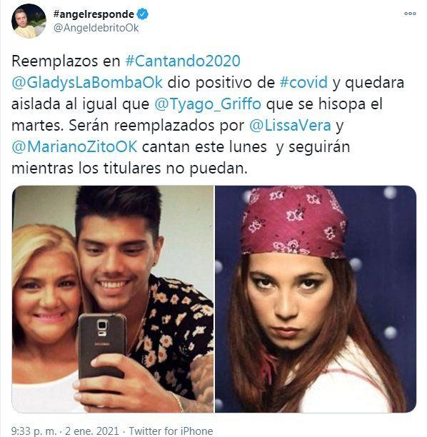 Gladys La Bomba Tucumana dio positivo a coronavirus
