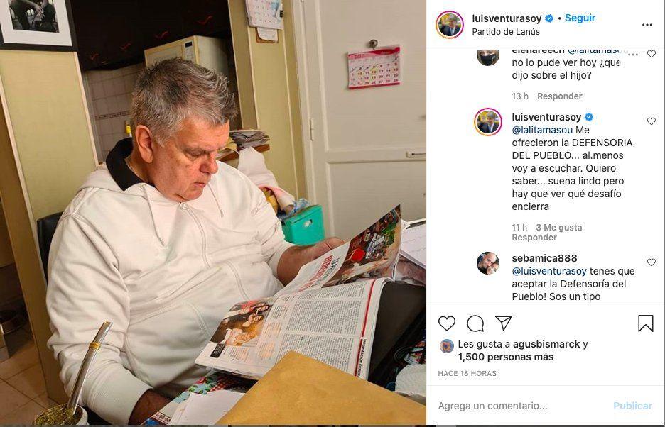 A Luis Ventura le ofrecieron un importante cargo público