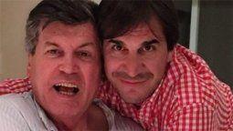 El actor Carlín Calvo junto al productor Javier Faroni. Se conocieron en Mar del Plata cuando Faroni tenía 12 años
