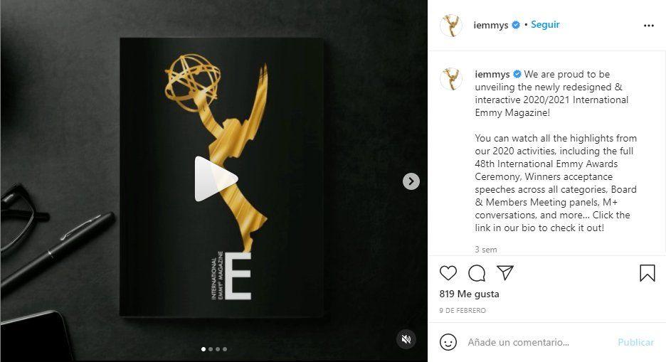 A través de la cuenta Instgram de los premios Emmy se anunció la fecha de la ceremonia