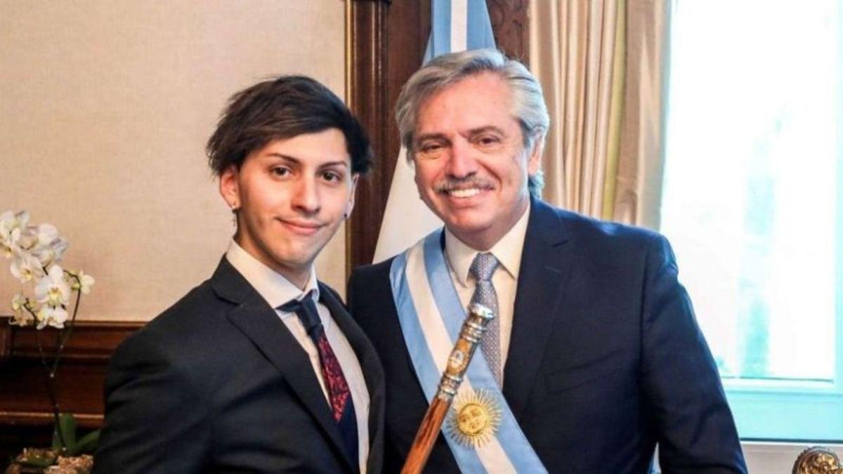 Estanislao Fernández es el hijo del presidente de Argentina