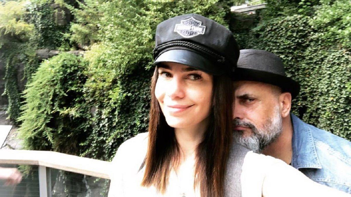 Romina Pereiro junto a Jorge Rial