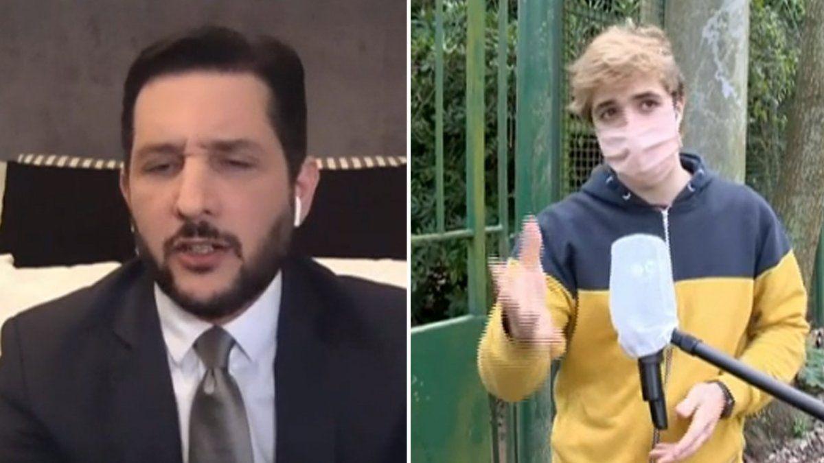 Vos sos una mala persona: El cruce en vivo de Germán Paoloski con un youtuber