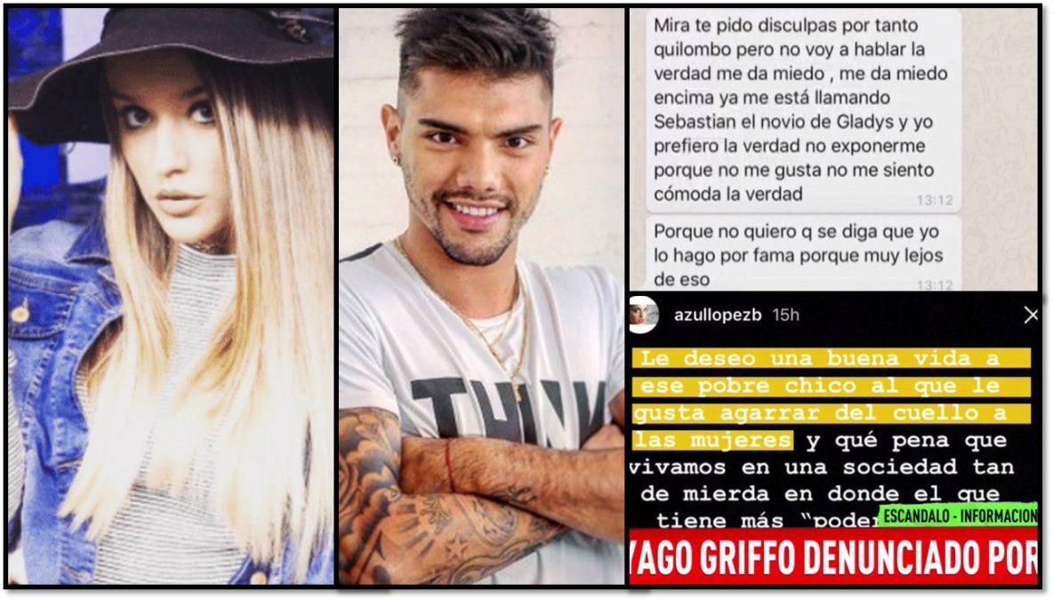 La ex de Tiago Griffo lo denunció por agarrarla del cuello: Tengo miedo; me llamó el novio de Gladys