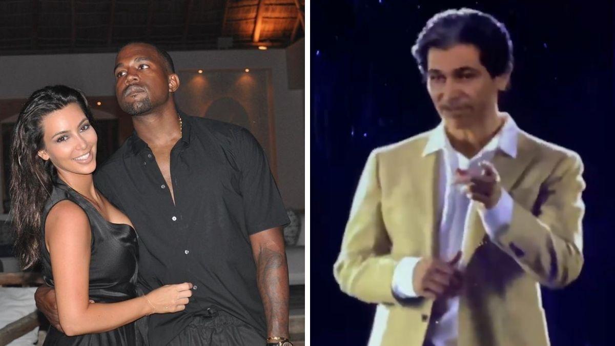 ¡Revivió! Kanye West le regala un holograma de su padre a Kim Kardashian