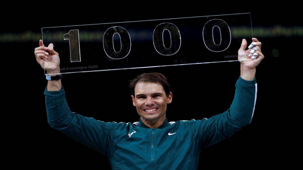 ¡HISTÓRICO! Rafa Nadal consigue su victoria 1000 de su carrera