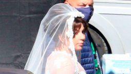 ¿Se casa? Lady Gaga apareció vestida de novia