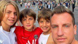Maxi López feliz en París con sus hijos en medio de la separación de Wanda Nara e Icardi