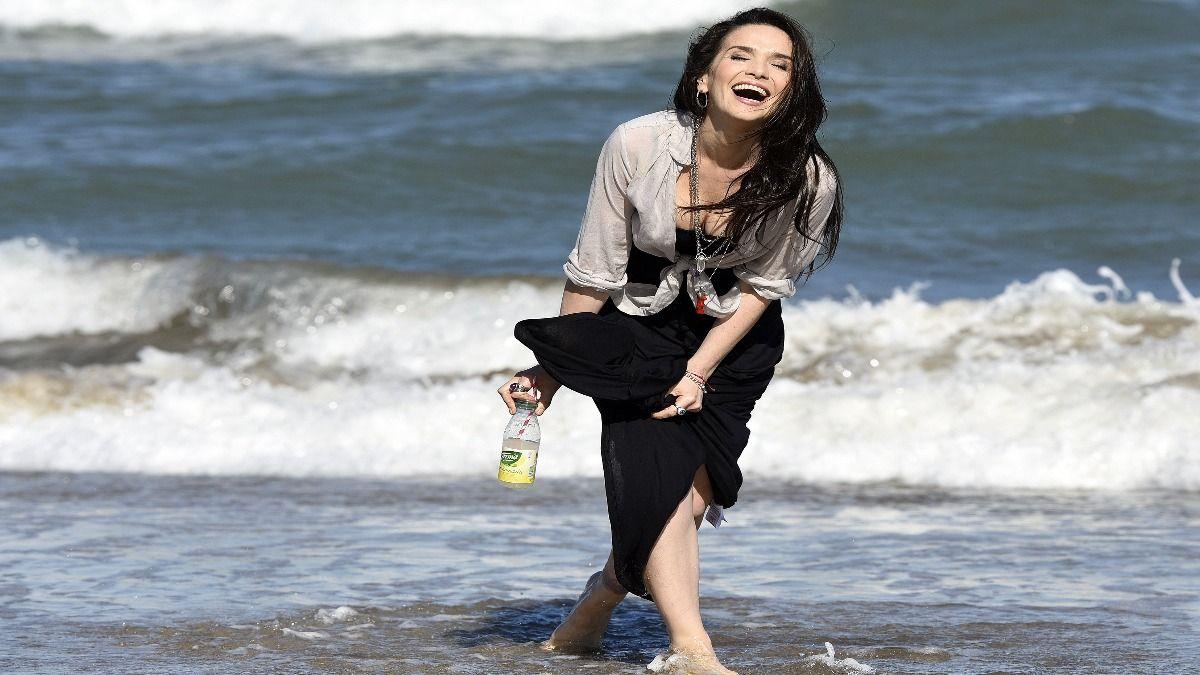 La cantante Natalia Oreiro sorprendió a los turistas de La Feliz