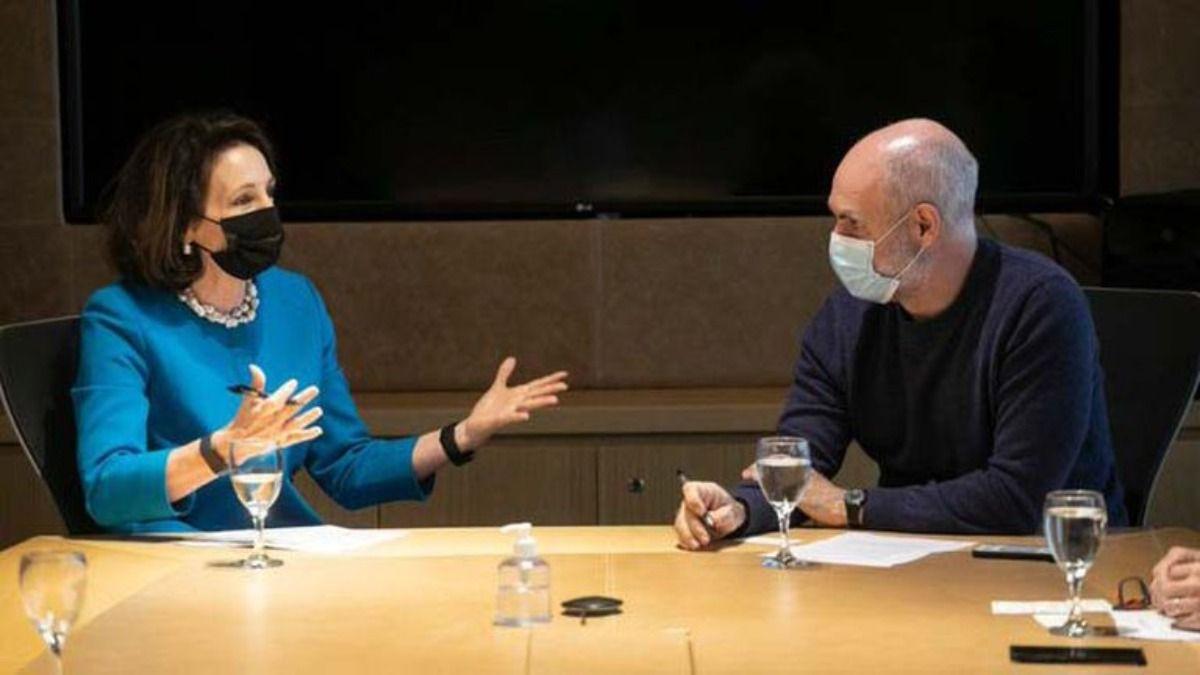 Horacio Rodríguez Larreta reunido con MaryKay Carlson por las vacunas contra el Covid 19