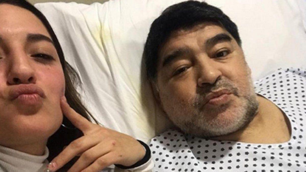 Jana Maradona rompió el silencio luego del video de Diego