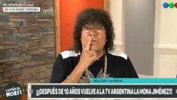 ¡Reapareció! La Mona Jiménez volvió a la televisión después de 10 años y contó un incómodo recuerdo