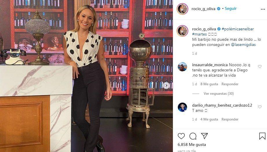 Rocío Oliva en Instagram