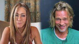 Jennifer Aniston y Brad Pitt se reencontraron publicamente durante una videollamada el año pasado