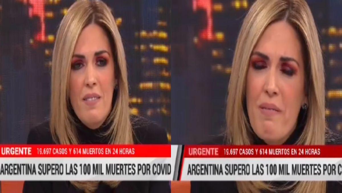El llanto de Viviana Canosa por los 100.000 muertos a causa del covid-19