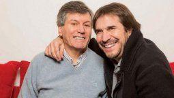 Javier Faroni junto a su amigo Carlín Calvo