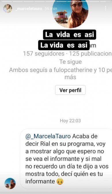 El comentario de Marcela Tauro contra Jorge Rial
