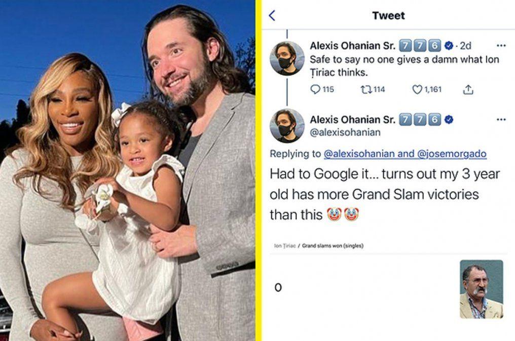 ¡Por abusador! Serena Williams es defendida por su esposo