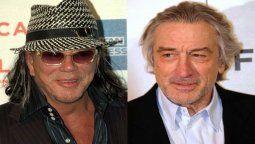 Mickey Rourke y Robert De Niro se conocieron en 1987