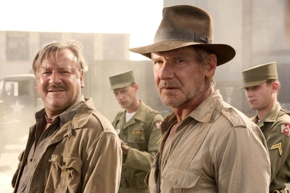El actor Harrison Ford durante una escena de la película Indiana Jones 5