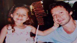 El actor Benjamín Vicuña junto a su hija Blanca, fallecida hace 8 años