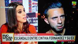 Que no me rompa las pelotas Matías Defederico se cansó de Cinthia Fernández