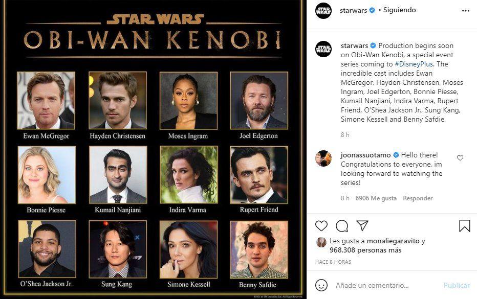 A través de las redes sociales de Star Wars