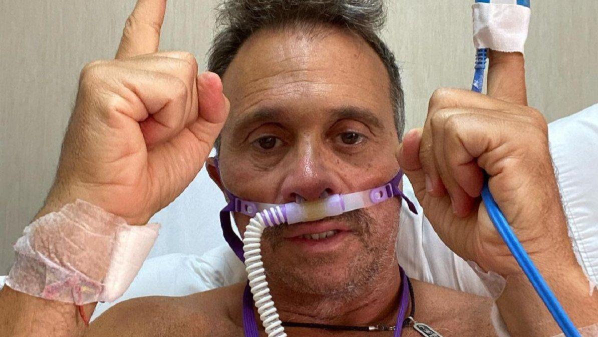 Sergio Lapegüe salió de terapia intensiva y está feliz
