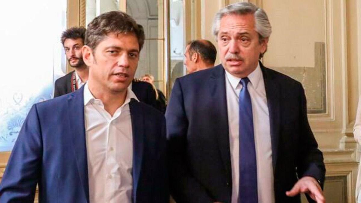 Alberto Fernández junto aKicillof