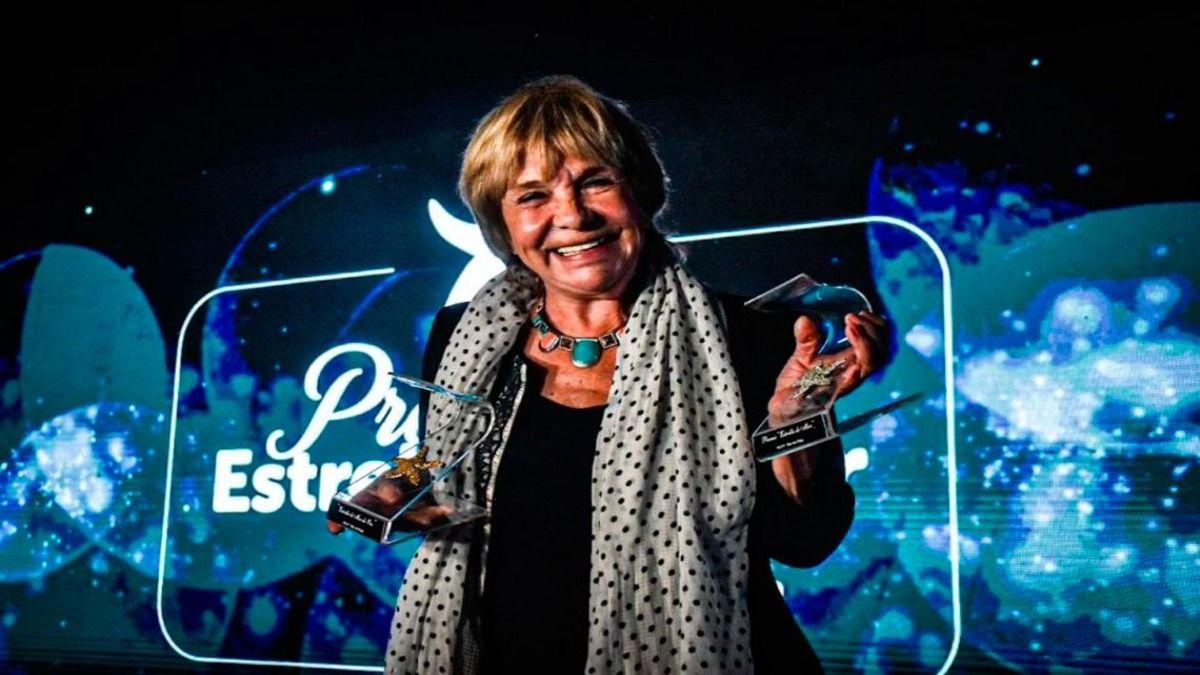 La actriz Virginia Lago recibió el premio de manos del intendente