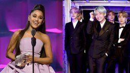 ¡Ahora sí! Ariana Grande va a colaborar con BTS